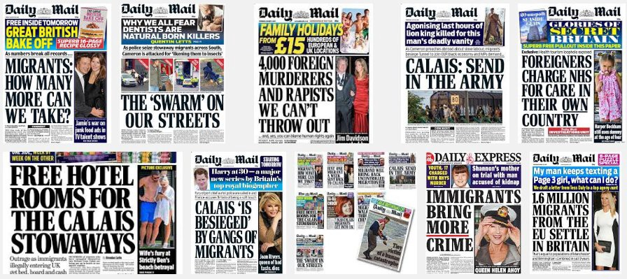 Tabloid coverage on immigration