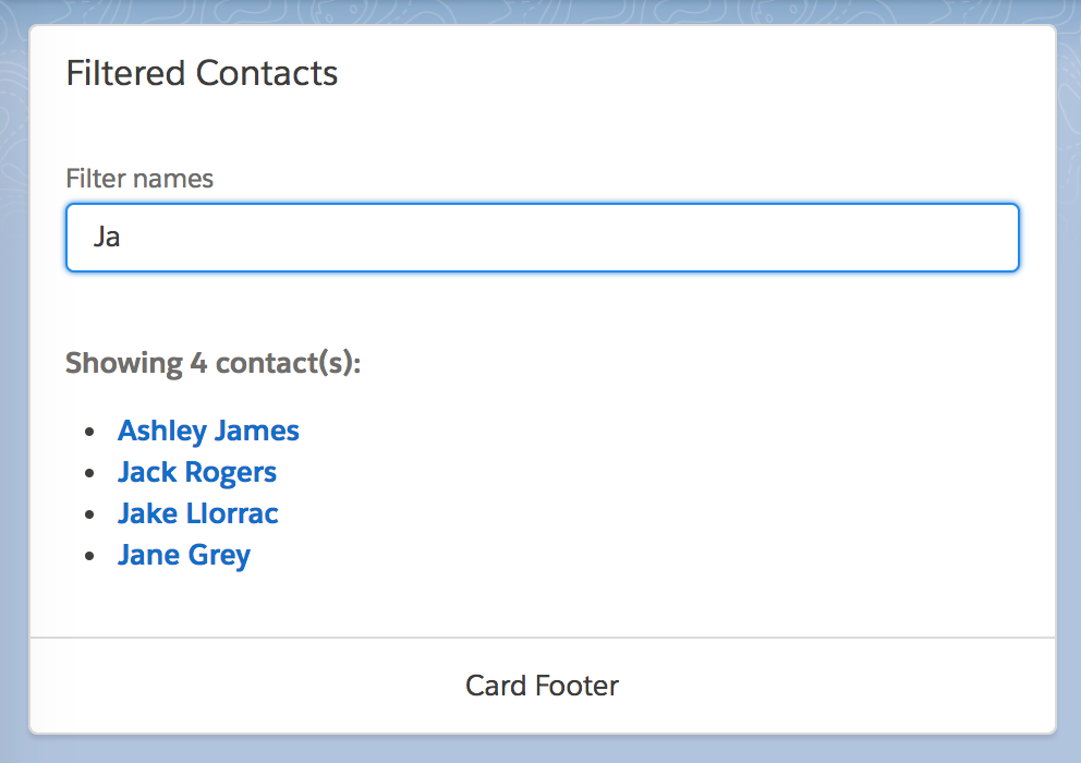 Building a Real-Time Filtered List with Custom Lightning Components