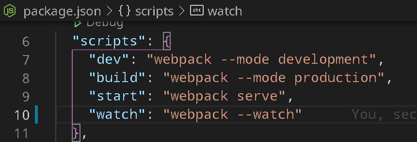 packages.json example