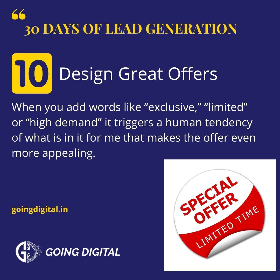 Lead Generation with great offers