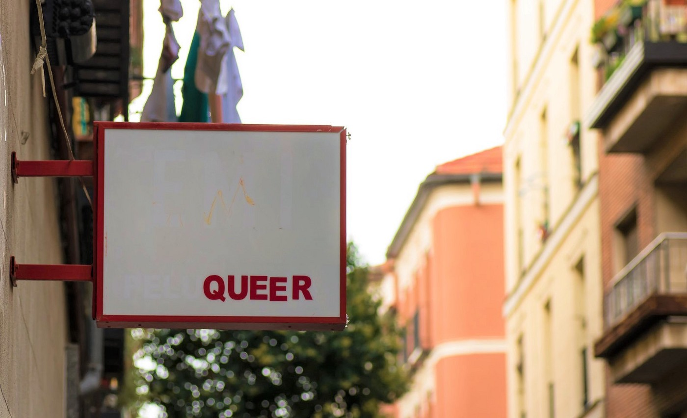 Sign with the word 'QUEER'.
