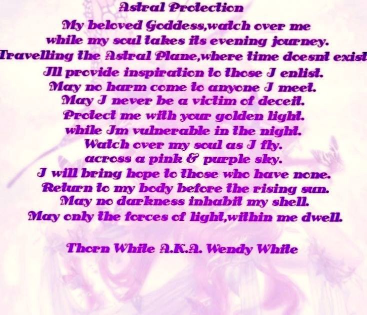 An Astral Protection Spell: - Wendy White - Medium
