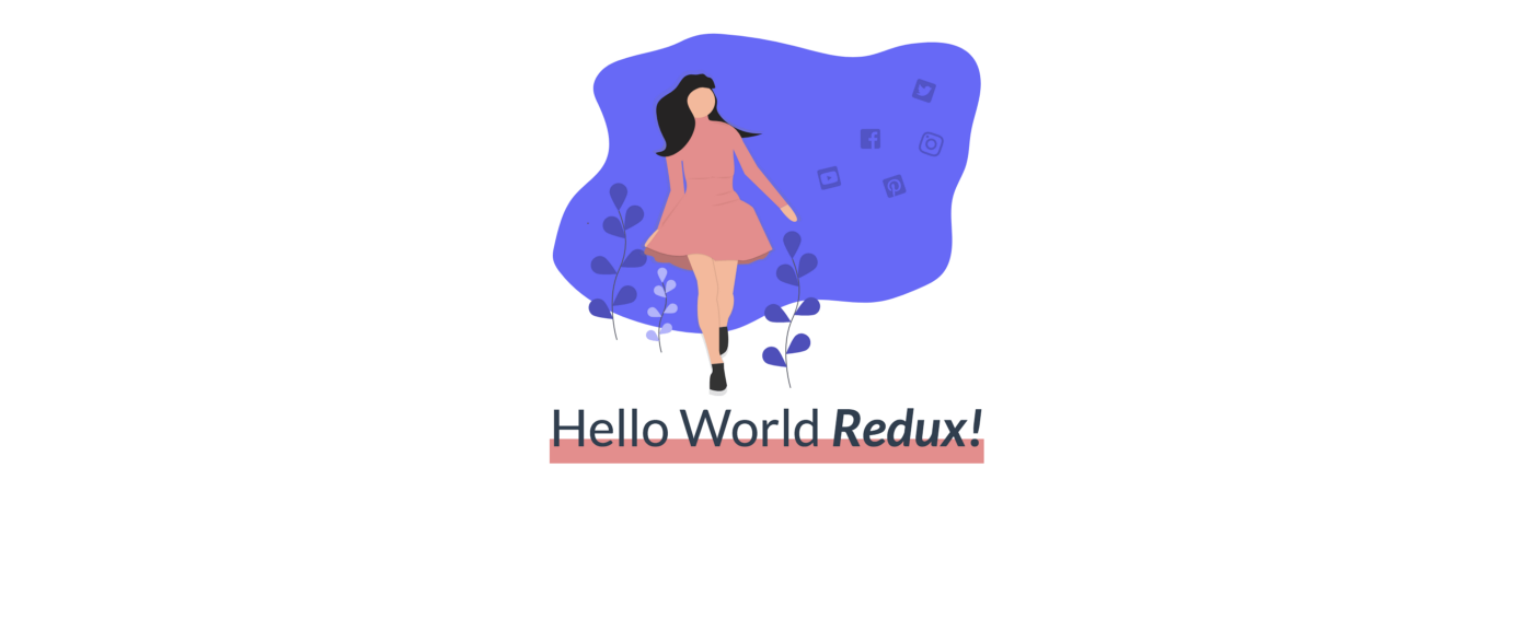"""The basic Hello World App with the tech prop changed to """"Redux"""""""