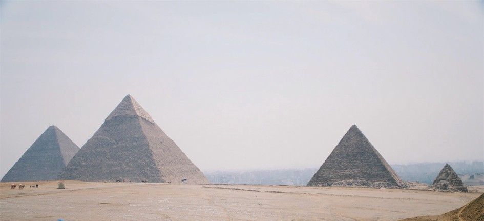 Photograph of pyramids from Egypt