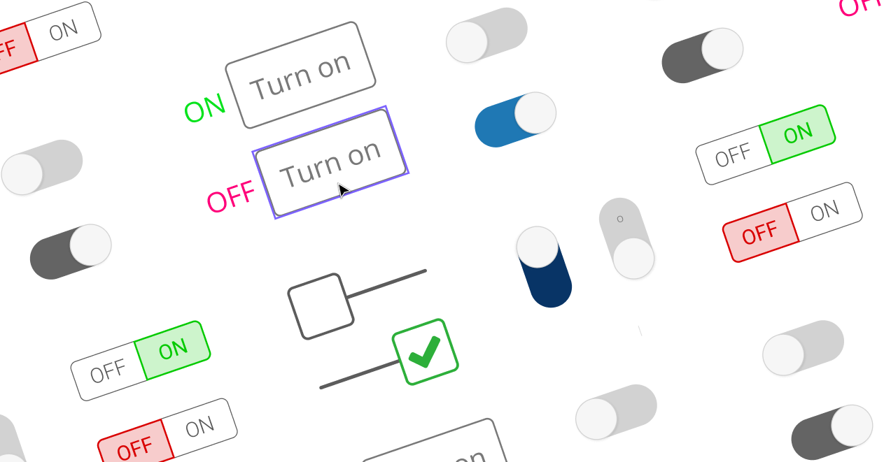 FeatureToggles image with multiples toggles types (only for illustration purposes)