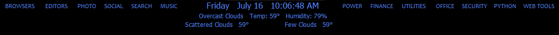 Clock with date and weather forecasts GUI written in python anf pyqt5.