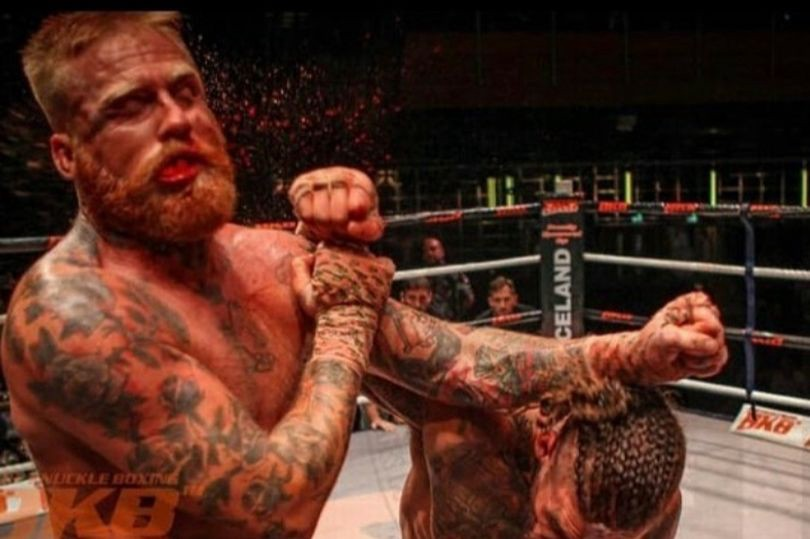 Bare knuckle boxing fight.