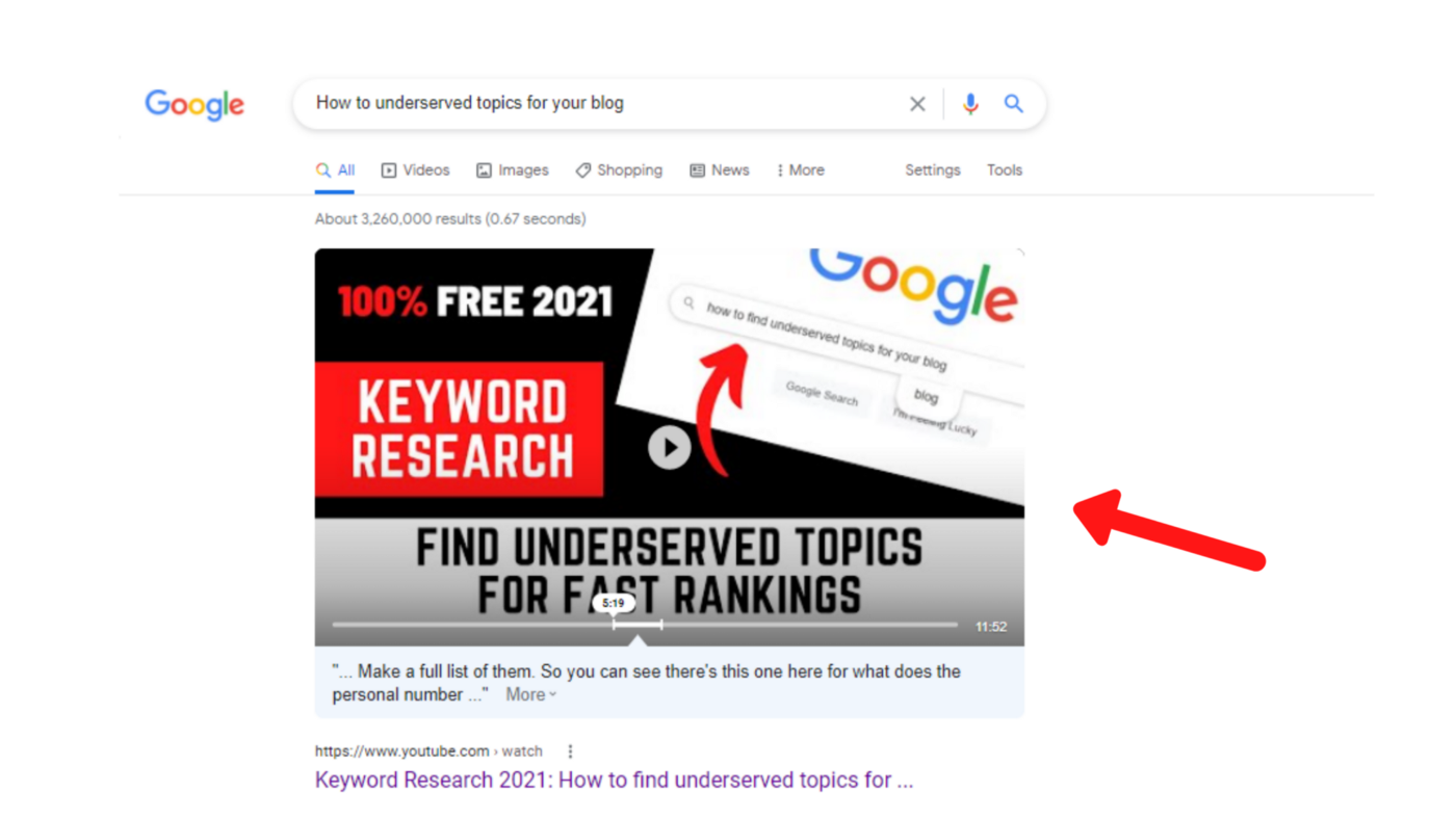 ranking a youtube video on google