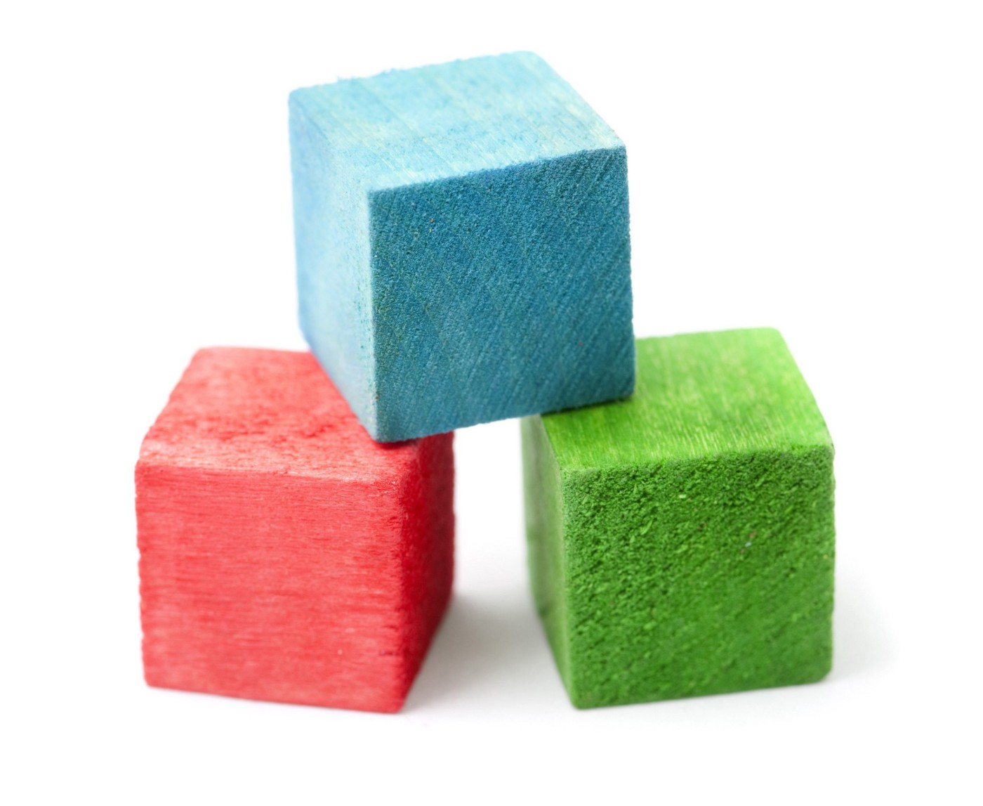 A set of wooden building blocks in bright colours