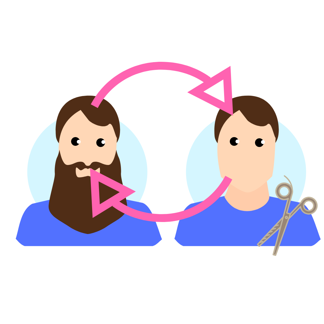 An illustration of Russell's paradox from an article on the topic: https://medium.com/@jiwonjessicakim/russells-paradox-f8897