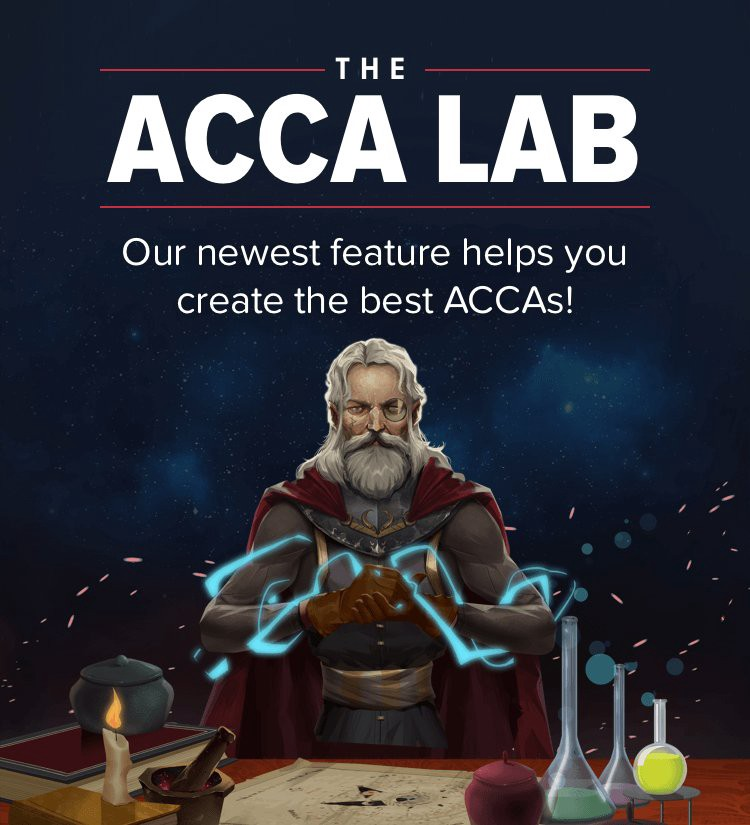 BetBull's wizard introducing acca lab