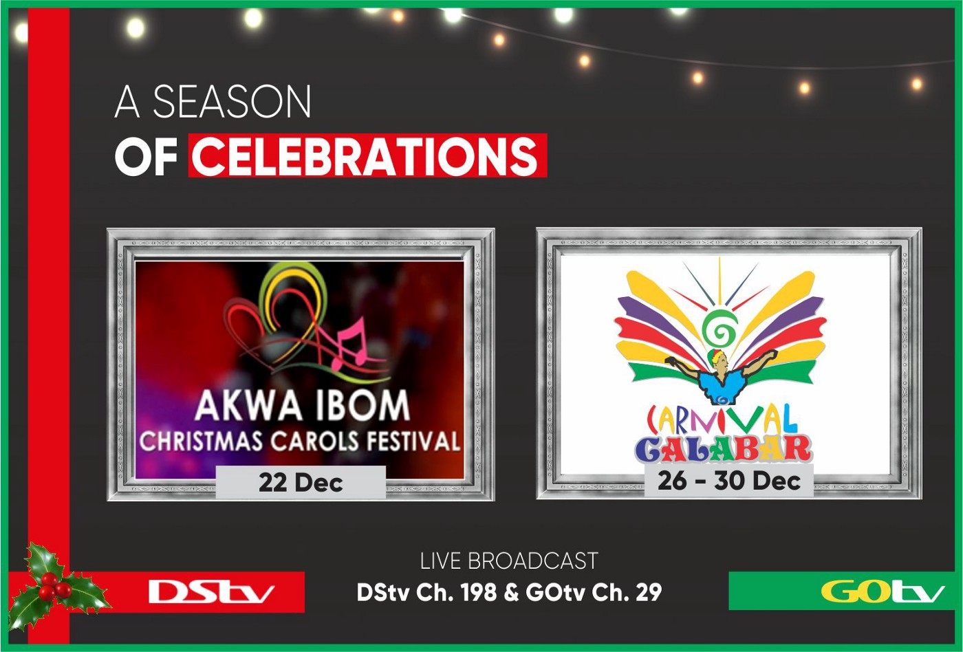 DStv, GOtv To Air Biggest Live Events Of The Festive Season on Pop