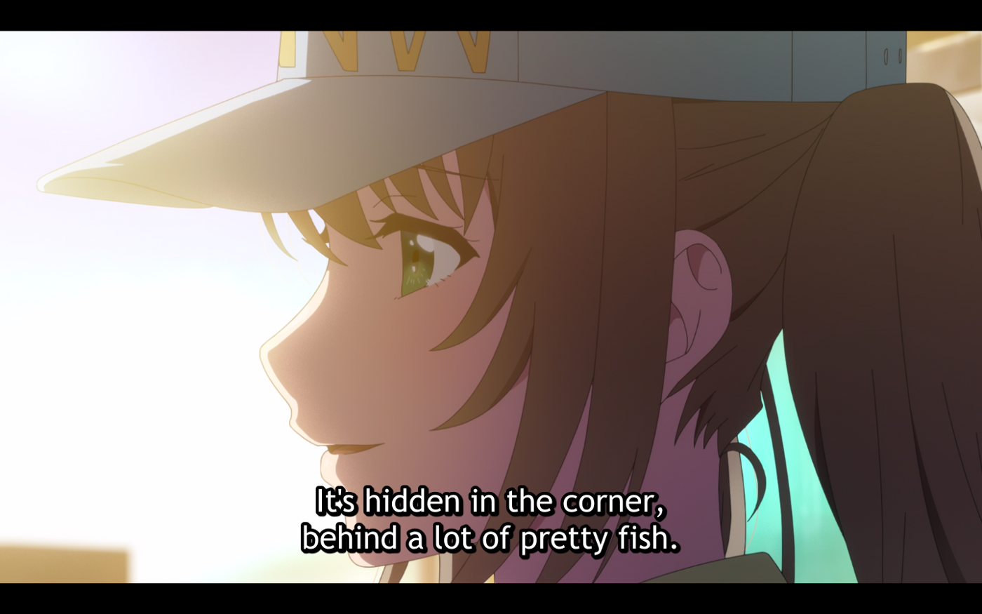 Fuuka comparing herself to the dying fish.