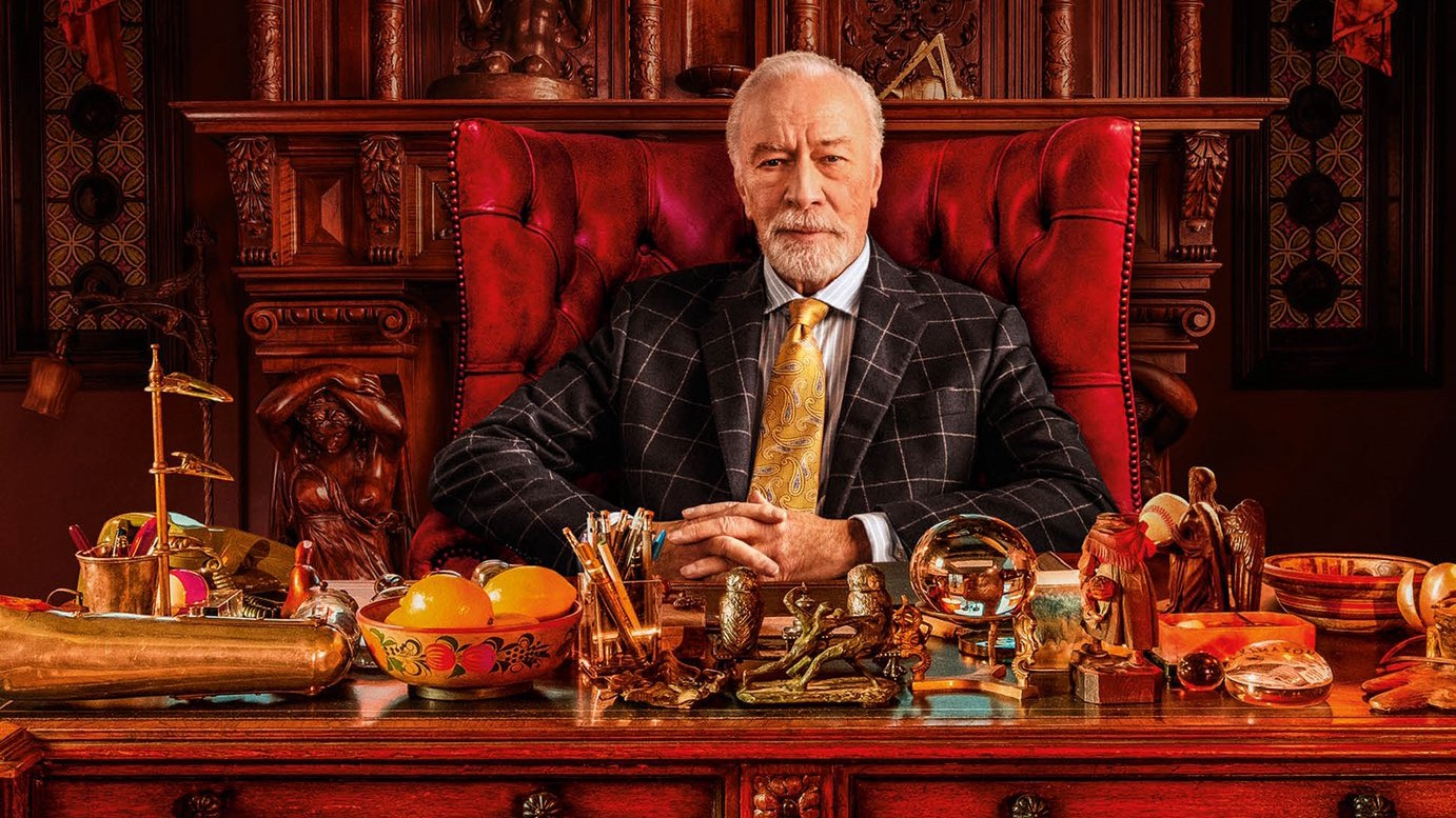 Christopher Plummer as Harlan Thrombey in Knives Out.