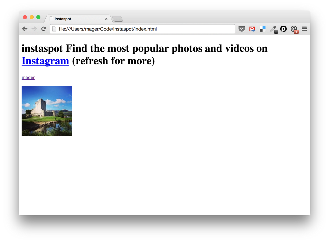 An Instagram-powered web app in 50 lines code with Angular JS