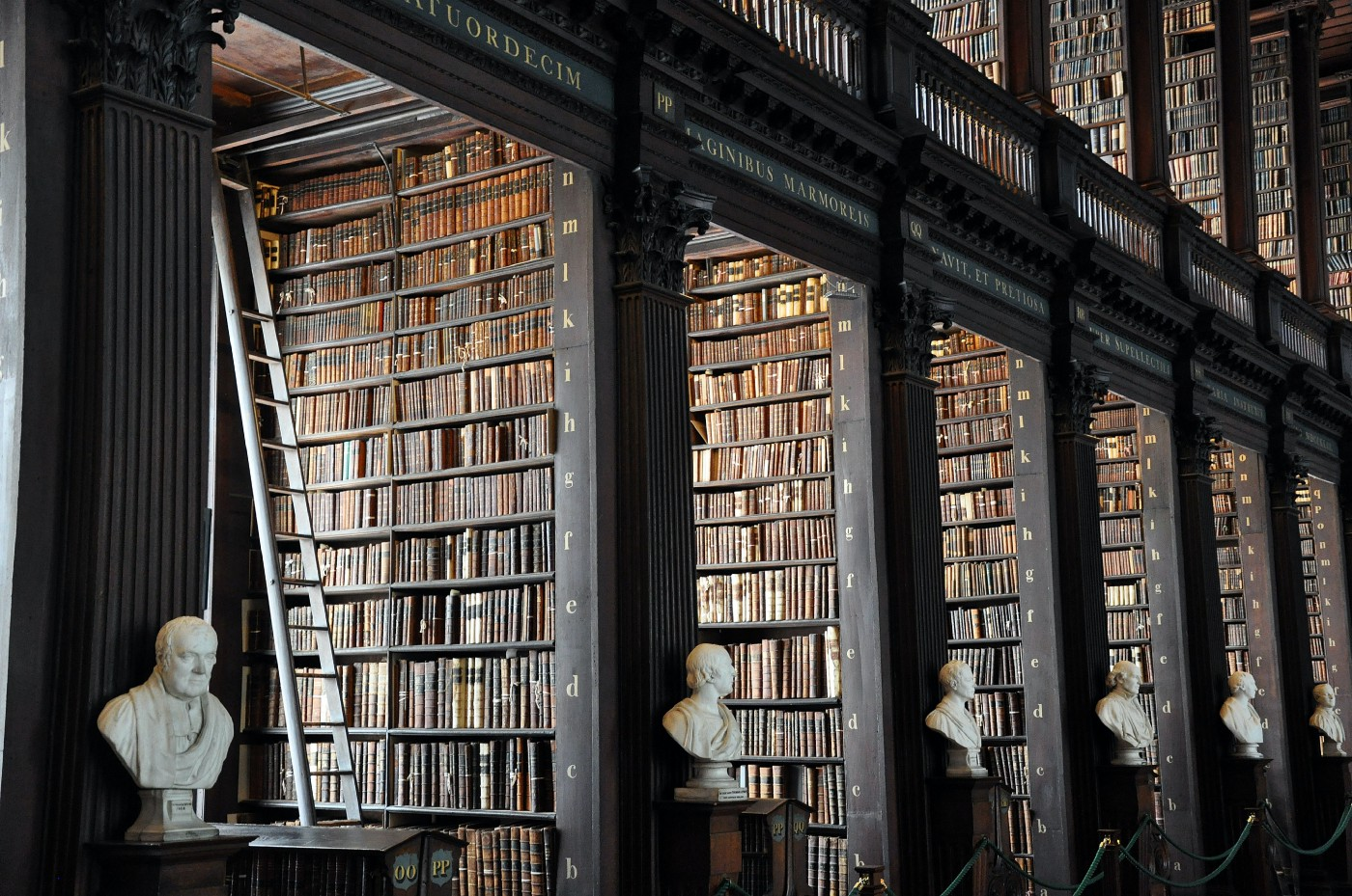 A beautiful library at Trinity College, Dublin.