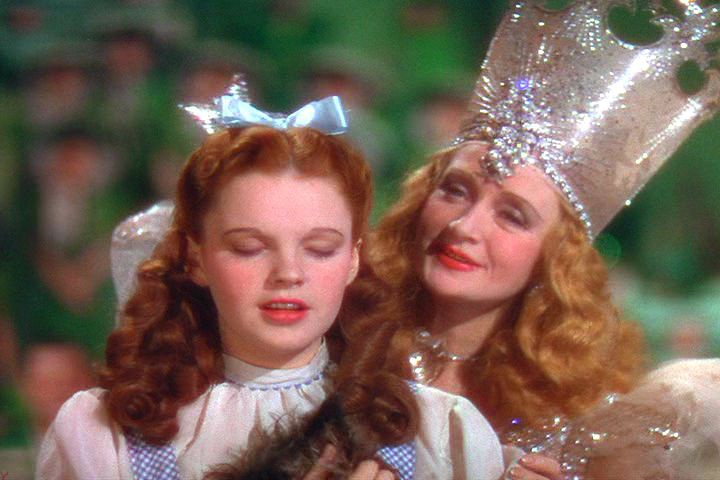 Glenda the Good Witch with Dorothy about to grant her a wish in The Wizard of Oz