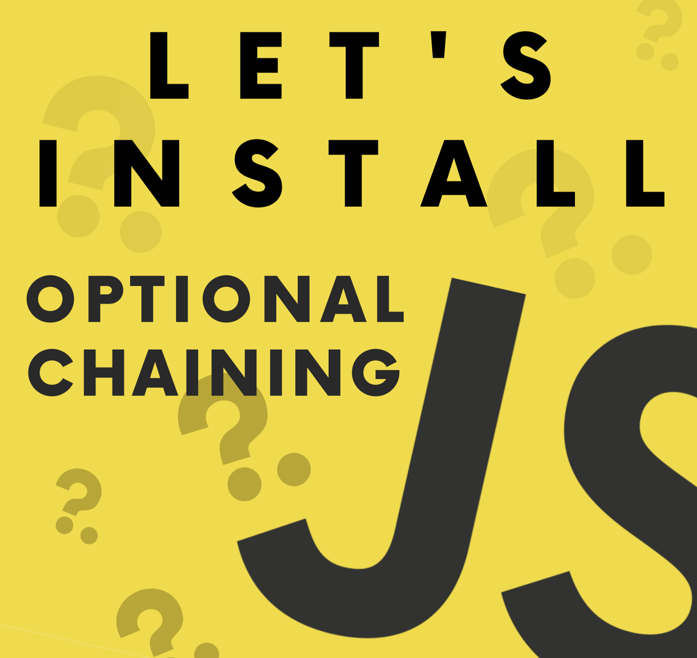 Let's Install Optional Chaining in your project| @thawinwats