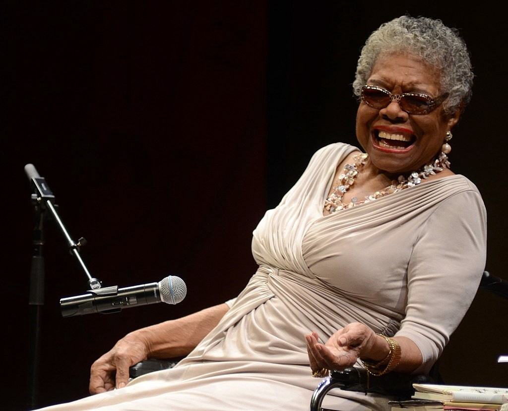 Maya Angelou Elon University, CC BY 2.0 <https://creativecommons.org/licenses/by/2.0>, via Wikimedia Commons