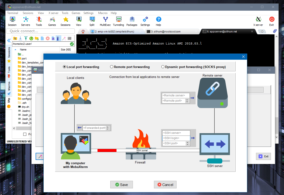 Connect Linux and Windows environments, transfer files and more all