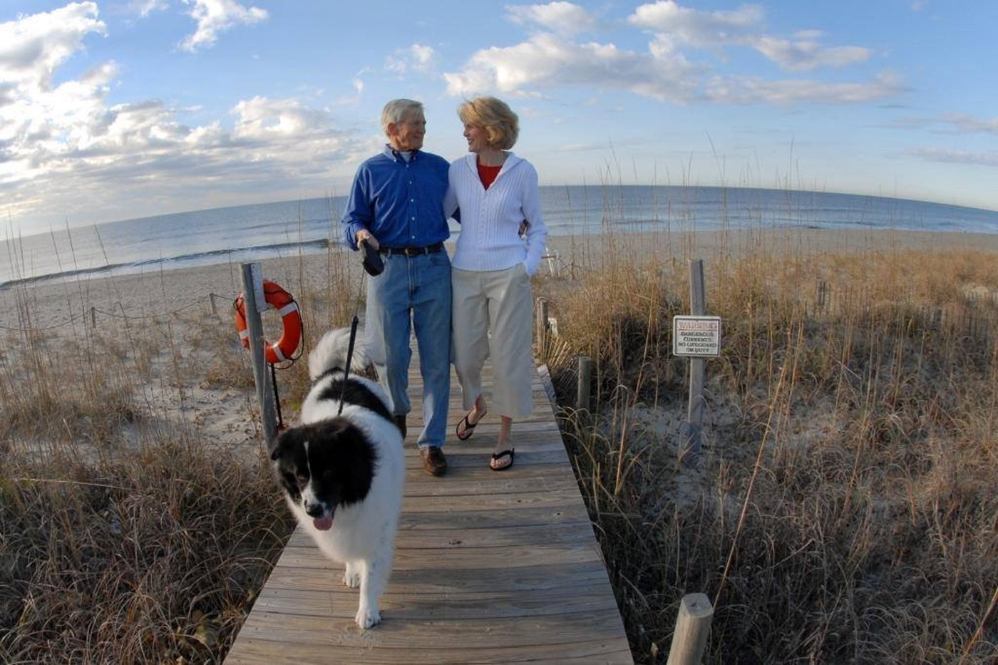 Enjoy miles of dog-friendly beaches on Bald Head Island.