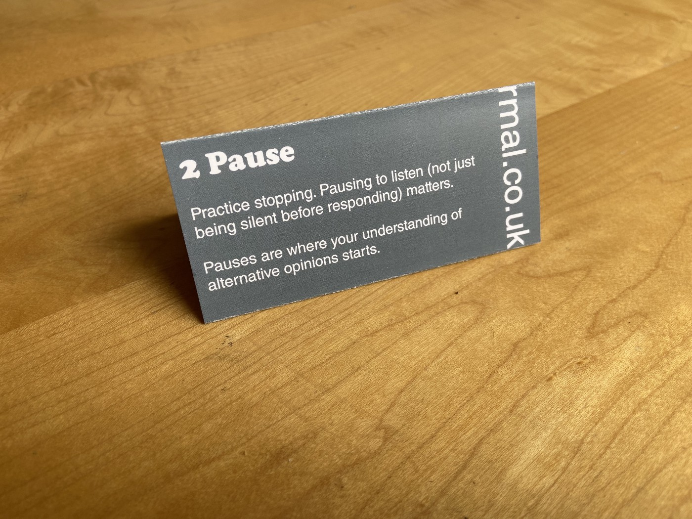 Part 2 of folded card—Pause