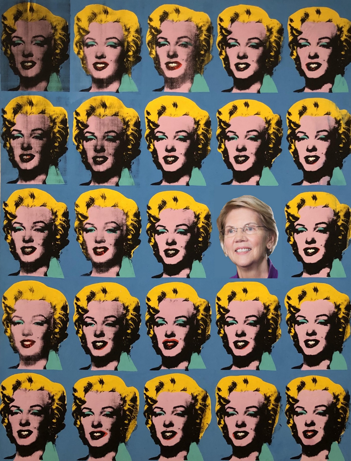 paintaing: Andy Warhol, Twenty-Five Colored Marilyns