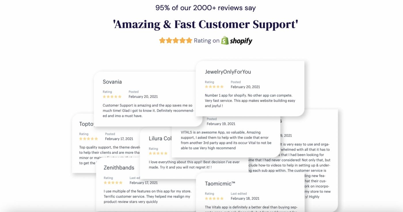 Landing page copy for Shopify app to convert more visitors