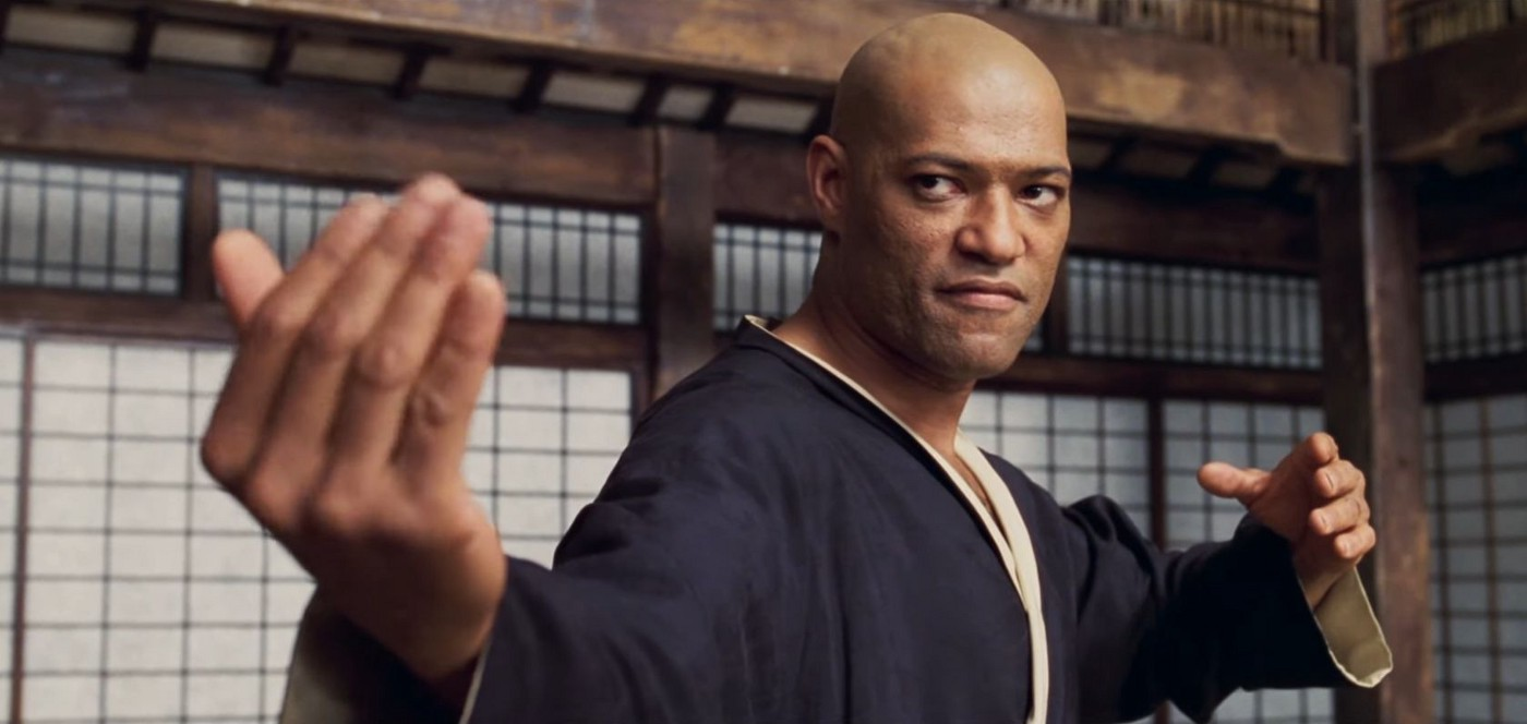 Screenshot of Morpheus in the Dojo in Matrix