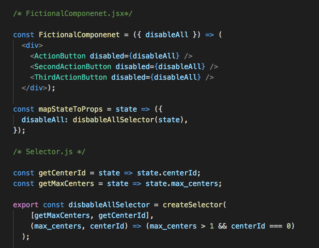 Avoiding Re-Renders in React and optimising MapStateToProps with