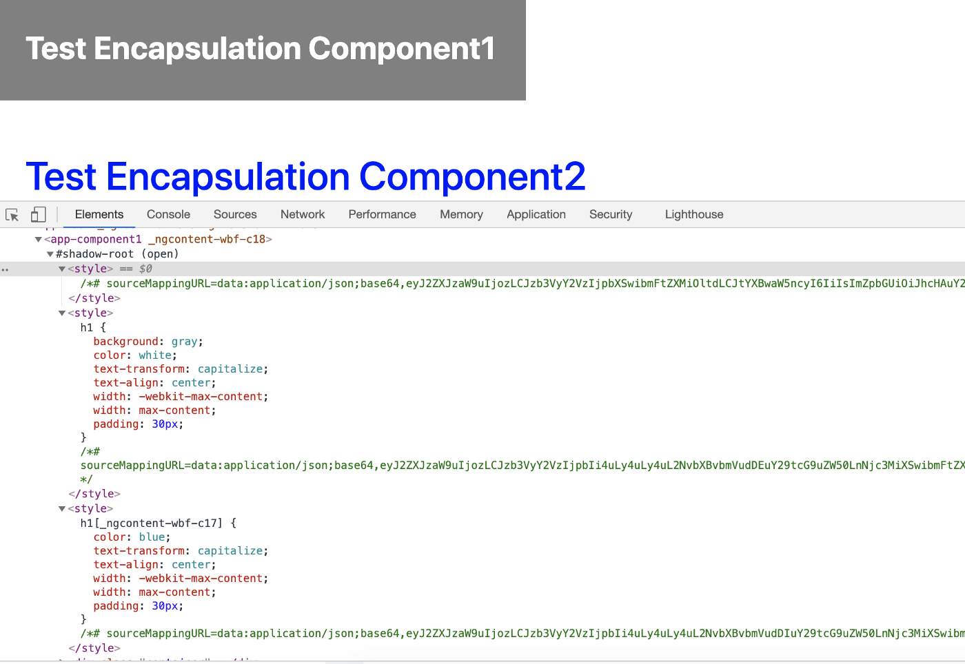 ViewEncapsulation.ShadowDom, Changes will be scoped to component only. The angular renders the component inside the #shadow root element