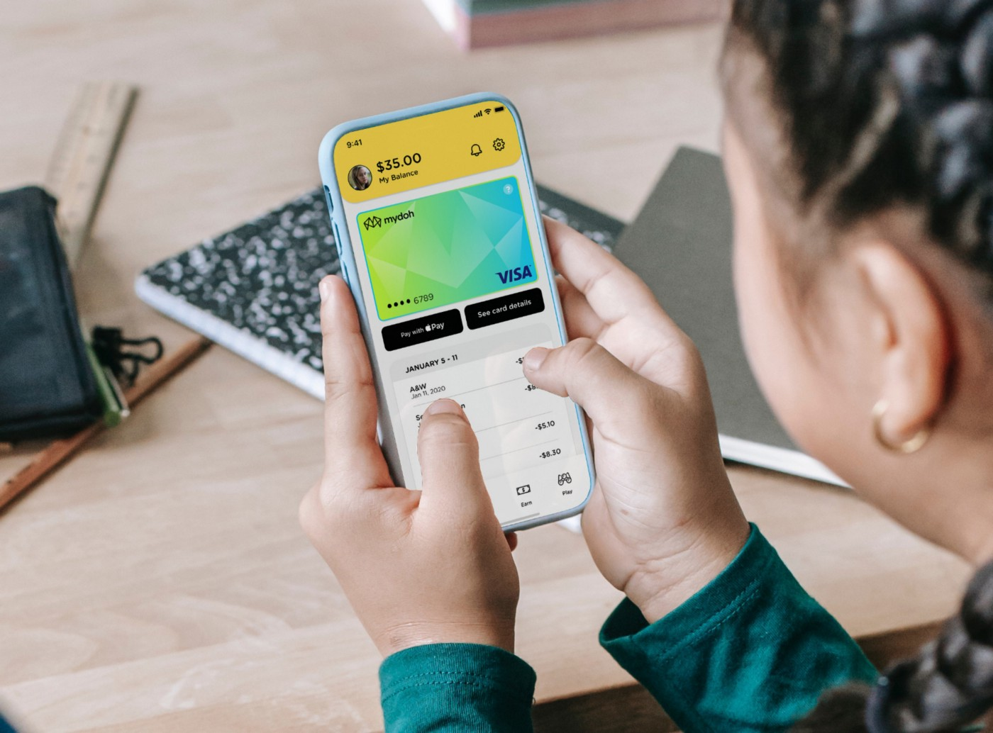 Mydoh app used by a child