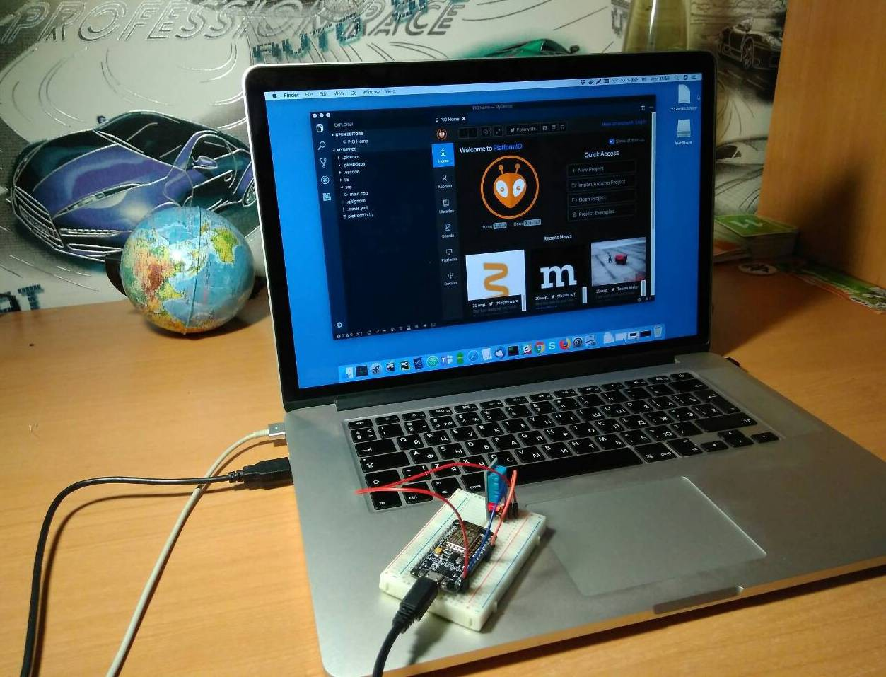 Connecting an ESP8266-based module to the Cloud using Arduino