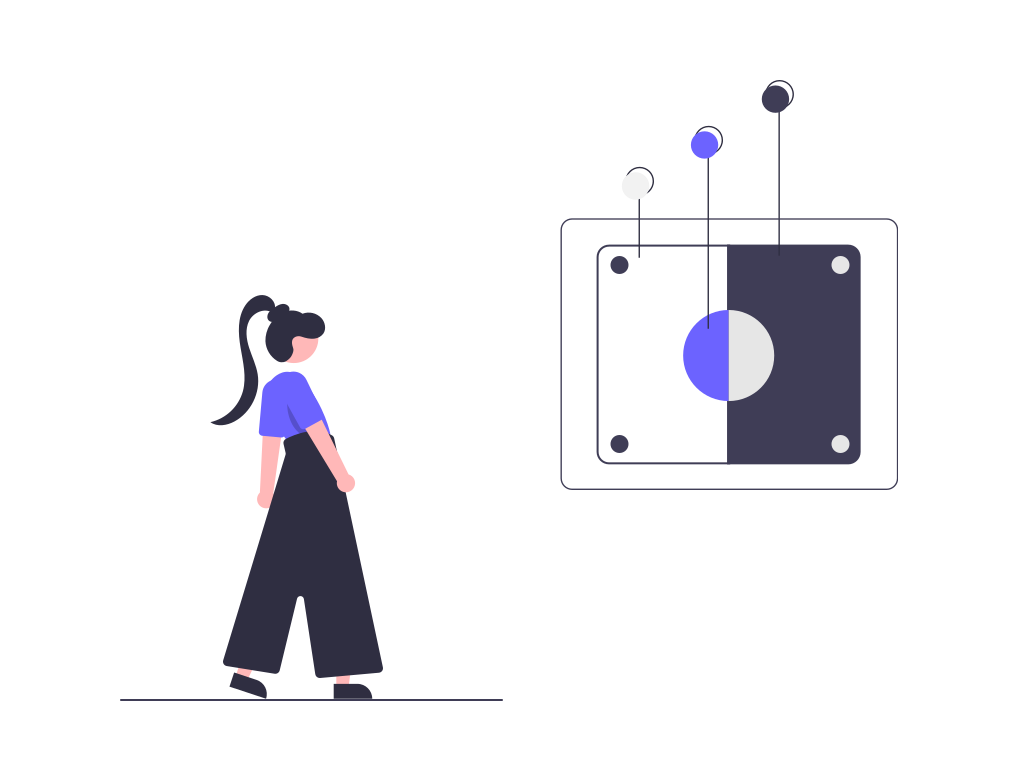 An UX Designer illustration