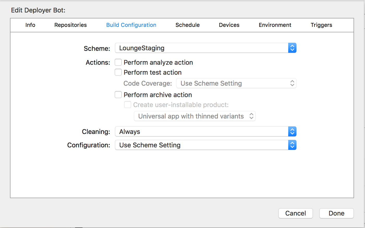 One-click deployments for iOS Apps using Xcode 8, macOS Server