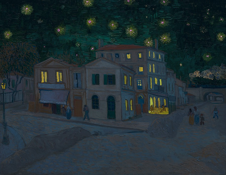 van Gogh's famed yellow house at night representing diversity and union across UX teams and practioners