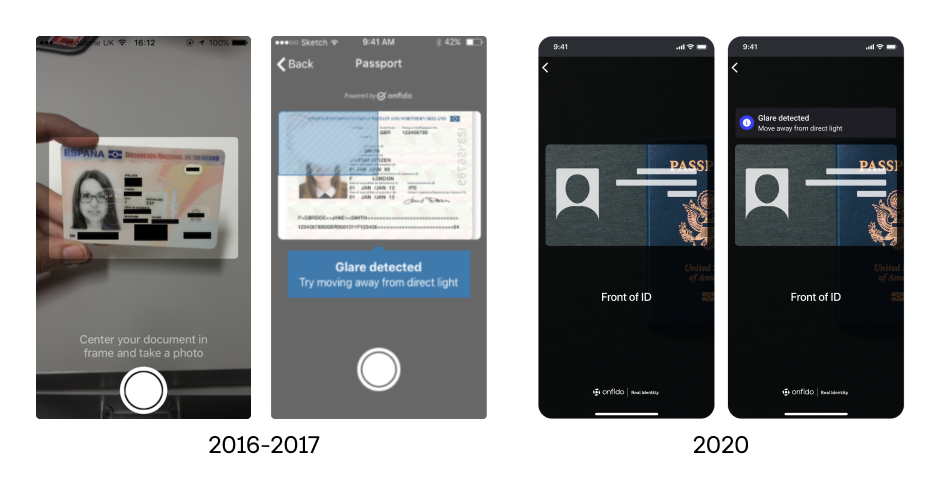 Images of our product in 2016 and in 2020, showing its visual evolution.
