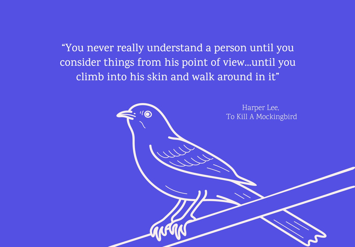 a mockingbird illustration with quote from to kill a mockingbird novel