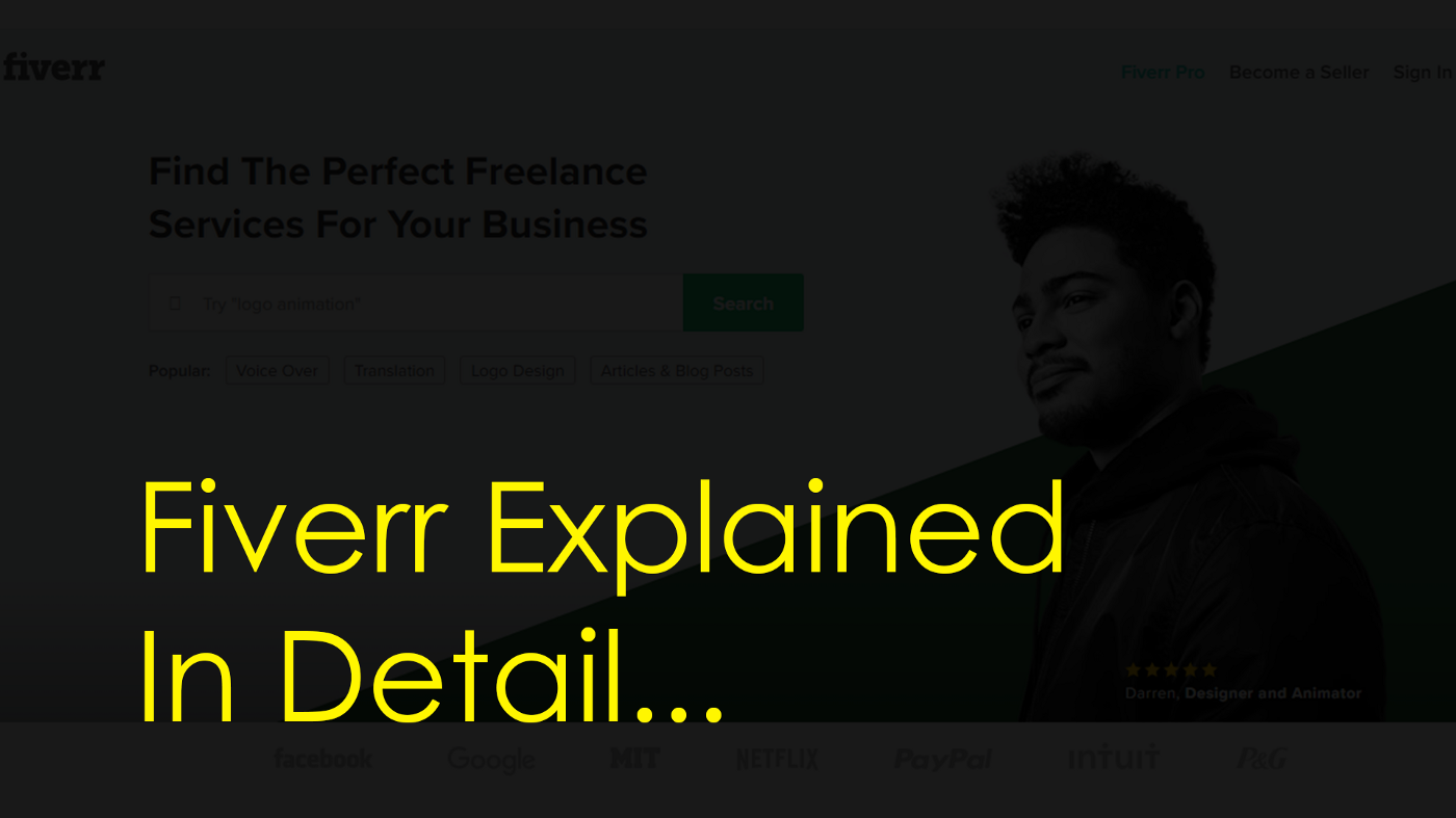 The featured Image for the what is fiverr & how it works acticle with words fiverr explained in detail