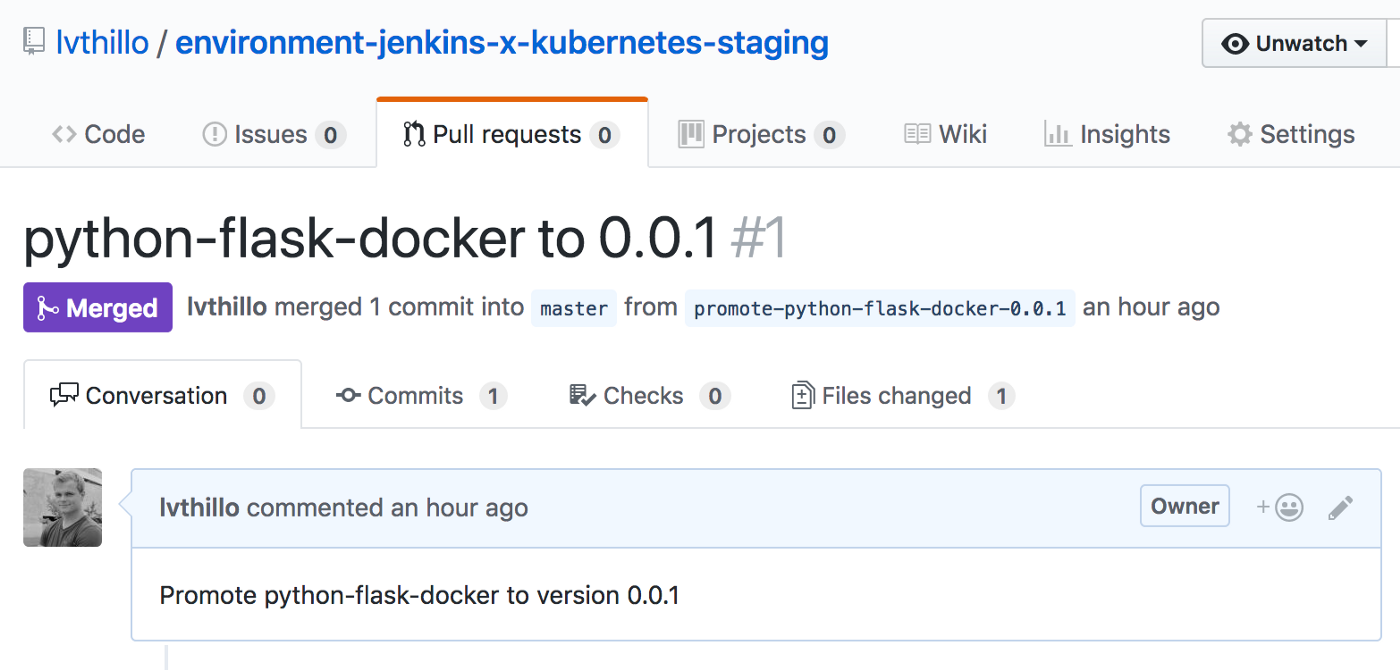 Deploy a basic Python application using Jenkins X & Kubernetes