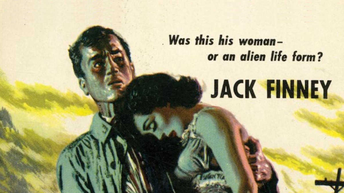 Detail from the first edition book cover of INVASION OF THE BODY SNATCHERS. Author: Jack Finney.