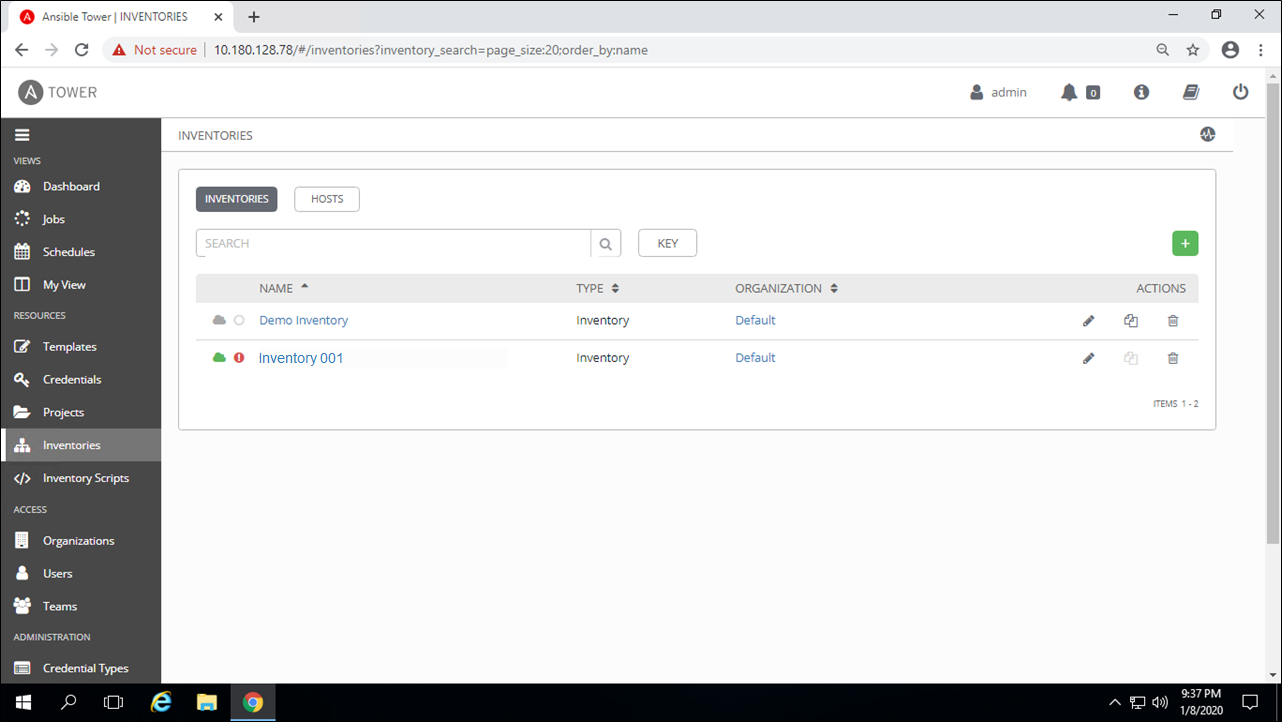 Ansible Tower—Inventory Section—Create and Synchronize Microsoft Azure Inventory with Ansible Tower | Orionlab | Orionlab.io