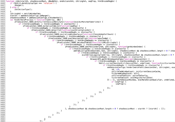 An extreme example to illustrate callback hell