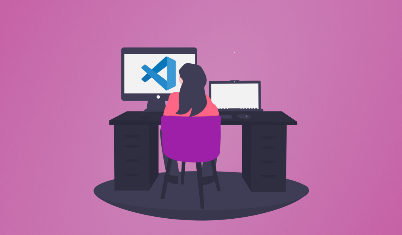 Picture of woman working in VS Code