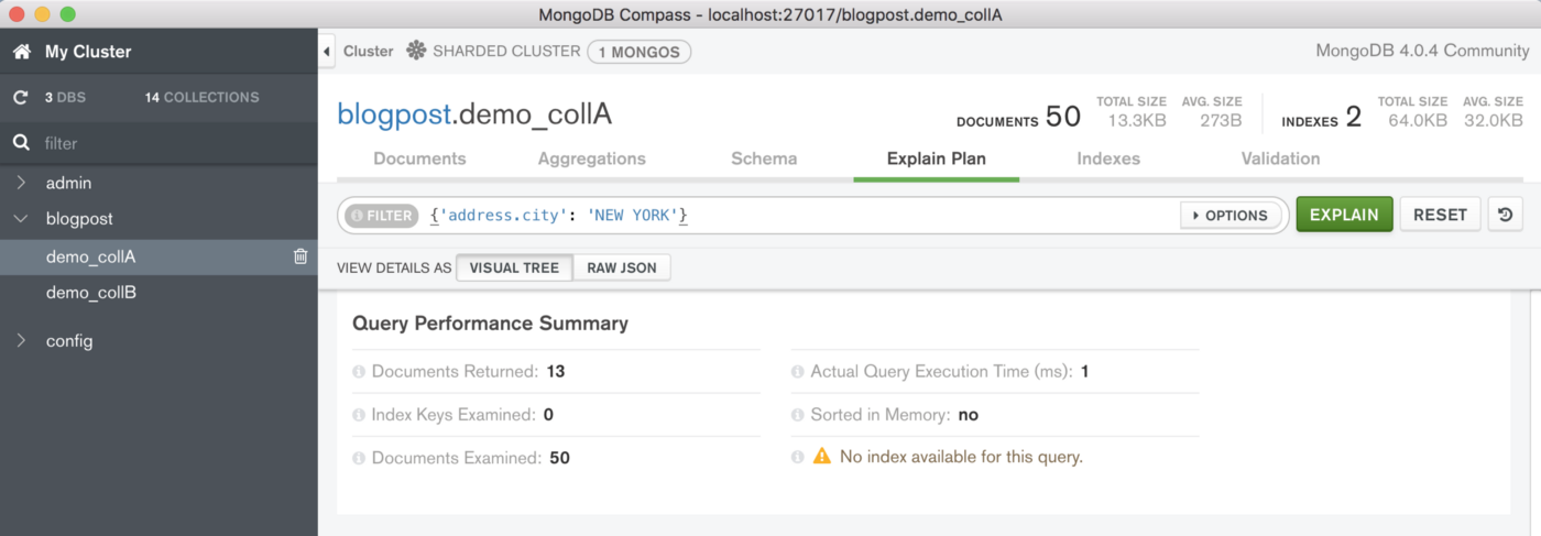 Optimizing Read Access to Sharded MongoDB Collections utilizing