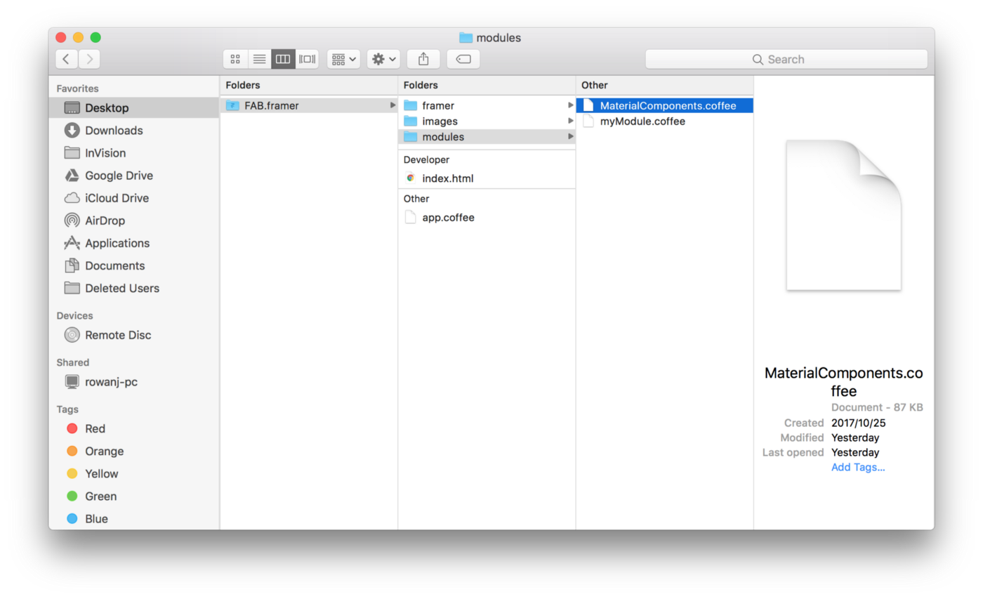 Introducing A MaterialComponents Module For Framer - Framer