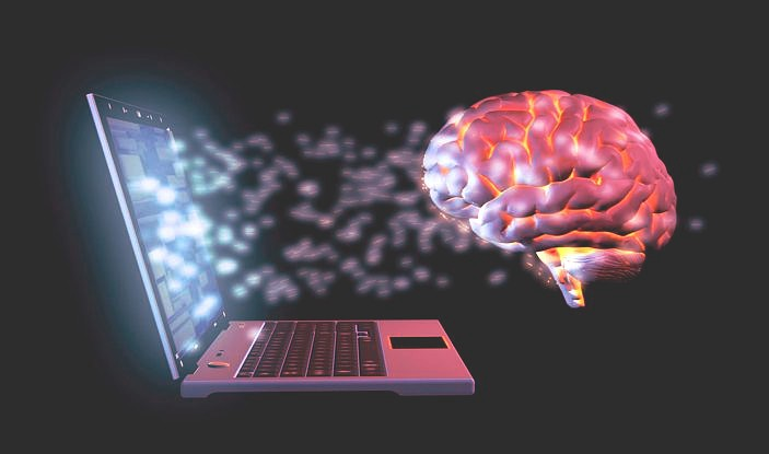Communication between laptop and brain