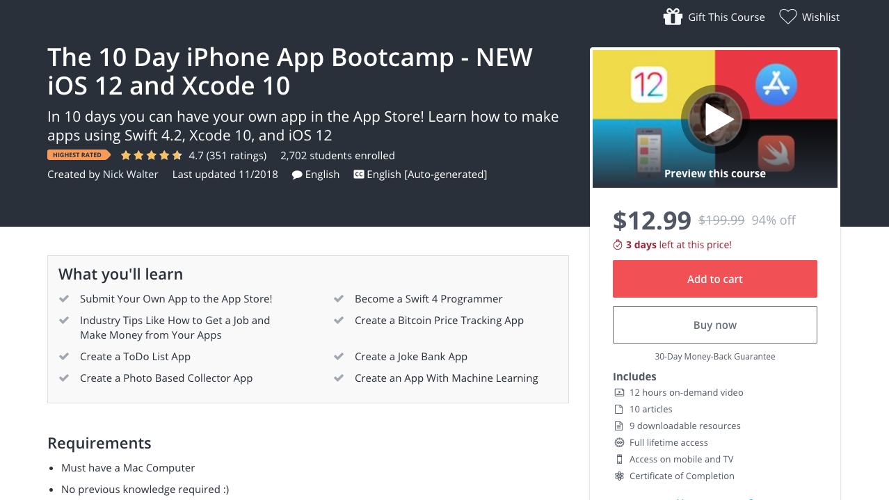 5 Best Udemy Courses for Learning iOS Development in 2019