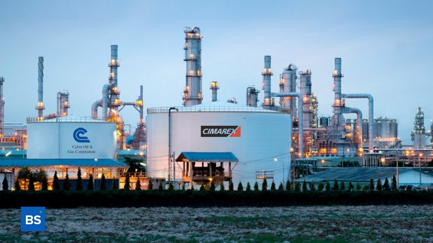 A photo of Cabot Oil & Gas and Climarex Energy containers on a rig