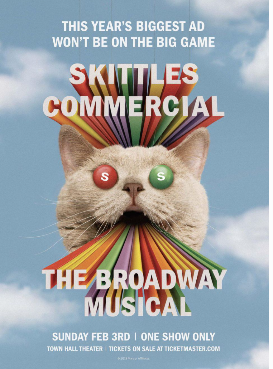 Advertisement for Skittles the Musical.
